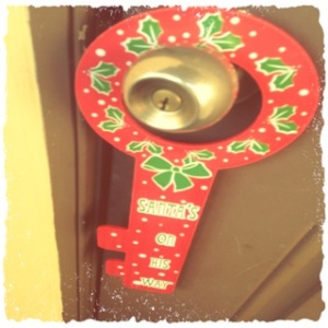 christmas doorknob