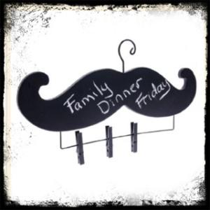 mustache chalk board