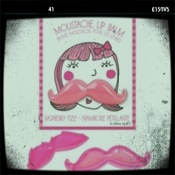 woman mustache lip balm