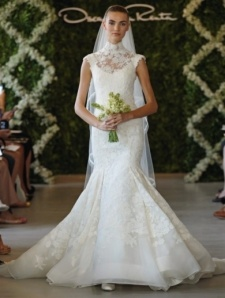 loverly lace high neck bridal dress