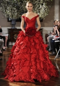 red loverly dress bridal
